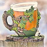 Nádoby - Čaj v lese - hrnček na čaj s líškou - 7729340_