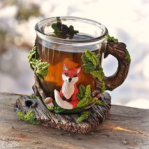 Čaj v lese - hrnček na čaj s líškou