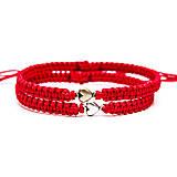 Náramky - Červený náramok so srdiečkom (15 cm) - 7729479_