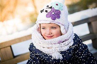 Detské čiapky - Lienková súpravička - 7729828_