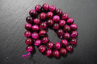 Minerály - Tigrie oko červenoružové farbené 10mm - 7730156_