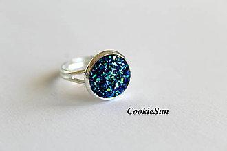 Náušnice - Glitter Dark Blue (12mm) - 7730751_