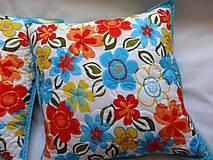 Úžitkový textil - Vankúš - rozsypané kvety - 7730553_