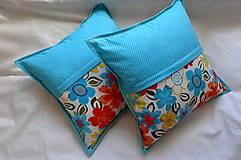 Úžitkový textil - Vankúš - rozsypané kvety - 7730560_
