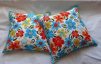 Úžitkový textil - Vankúš - rozsypané kvety - 7730552_