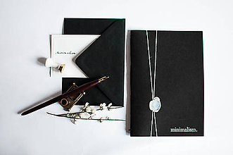 Papiernictvo - minimalism. / Black A5 - 7730802_