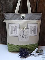 - Nákupná taška - obrázky s levanduľou - 7728543_