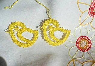 Dekorácie - paličkovaný jarný vtáčik 1 - 7730117_