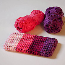 Na mobil - Obal na mobil - ružovo-fialový :) - 7728778_