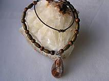 Náhrdelníky - Orgonit-etno náhrdelník - 7729653_