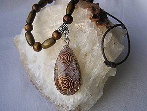 Náhrdelníky - Orgonit-etno náhrdelník - 7729696_