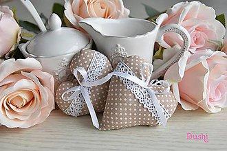 Darčeky pre svadobčanov - srdiečka caffe latte - 7729261_