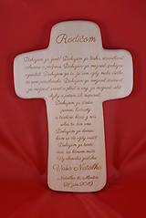 Darčeky pre svadobčanov - Drevený svadobný križik ako poďakovanie rodičom 2 - 7727902_