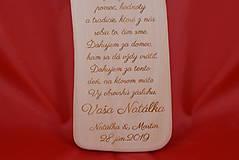 Darčeky pre svadobčanov - Drevený svadobný križik ako poďakovanie rodičom 2 - 7727903_