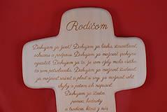Darčeky pre svadobčanov - Drevený svadobný križik ako poďakovanie rodičom 2 - 7727904_