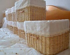 Košíky - Koše - imitácia duba/ks - 7727505_