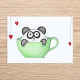 Papiernictvo - Roztomilosť v hrnčeku - zvieratko panda - 7728727_