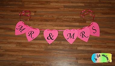 Tabuľky - Girlanda Mr&Mrs - 7732683_