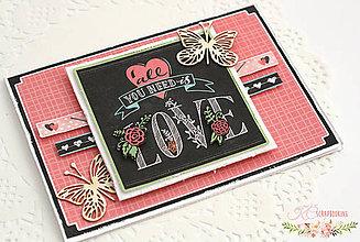 Papiernictvo - Scrapbooková pohľadnica XVIII - 7731813_
