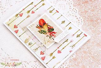 Papiernictvo - Scrapbooková pohľadnica XIX - 7731887_