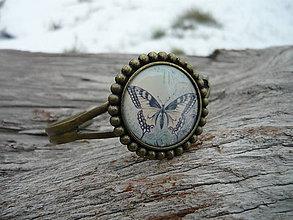 Náramky - Náramek Nostalgic Butterfly - 7732225_