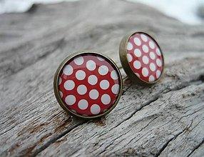 Náušnice - Náušnice Red Dots - 7734080_