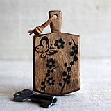 Kľúčenky - Kľúčenka z orechového dreva s motýľom - 7733199_
