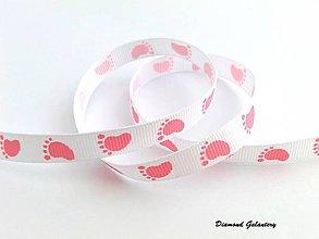 Galantéria - Rypsová stuha 10 mm - nožičky ružové - 7735817_