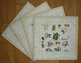 Úžitkový textil - Podšálky, podložky pod šálky, poháre - 7733135_