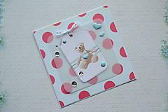 Papiernictvo - Pohľadnica k narodeniu dieťaťa/narodeninová - 7733122_