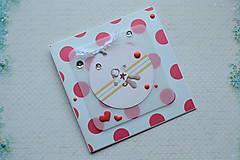 Papiernictvo - Pohľadnica k narodeniu dieťaťa/narodeninová - 7733322_
