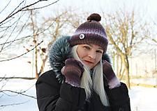 Čiapky - Dámska čiapka - melír - 7734376_