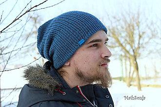 Doplnky - Pánska čiapka - modrá - 7733212_