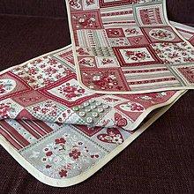 Úžitkový textil - Obrus štóla červená - 7734812_