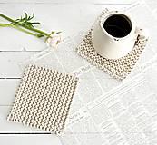 Pletené podložky do kuchyne