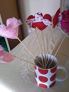Drobnosti - Valentínske srdce-zápich - 7731287_