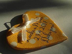 Darčeky pre svadobčanov - žltučké magnetky pre svadobčanov - 7732645_