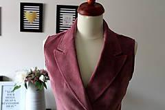 Iné oblečenie - Ružová vesta - 7735436_