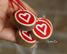 Dekorácie - Red hearts - 7735561_