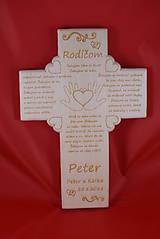 Darčeky pre svadobčanov - Drevený svadobný križik ako poďakovanie rodičom 3 - 7731715_