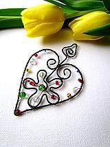 Dekorácie - srdce také radostné - 7731240_