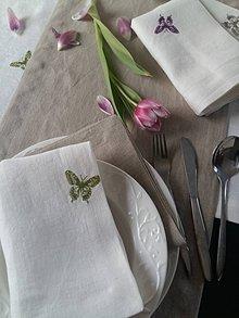 Úžitkový textil - Ľanová štóla Innocence - 7731903_