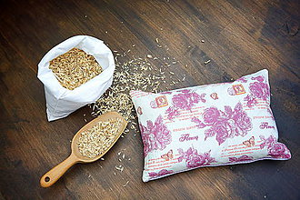 Úžitkový textil - Špaldový vankúš 20 x 30 cm - 7733148_