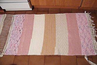 Úžitkový textil - Tkané ružovo-hnedé koberce - 7735189_