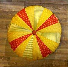 Úžitkový textil - podsedák PUF slniečkový :-) - 7731335_