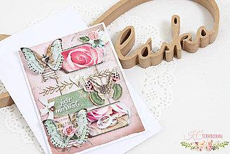 Papiernictvo - Scrapbooková pohľadnica XX - 7738392_