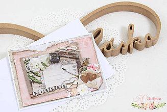 Papiernictvo - Scrapbooková pohľadnica XXI - 7738473_