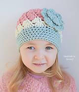 Detské čiapky - Jarná čiapočka ... pastelový zážitok - 7738599_