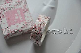 Papier - washi paska ruzova sakura - 7739202_