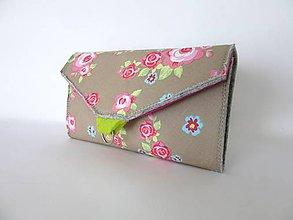 Peňaženky - Filcová peňaženka pestrá - 7736410_